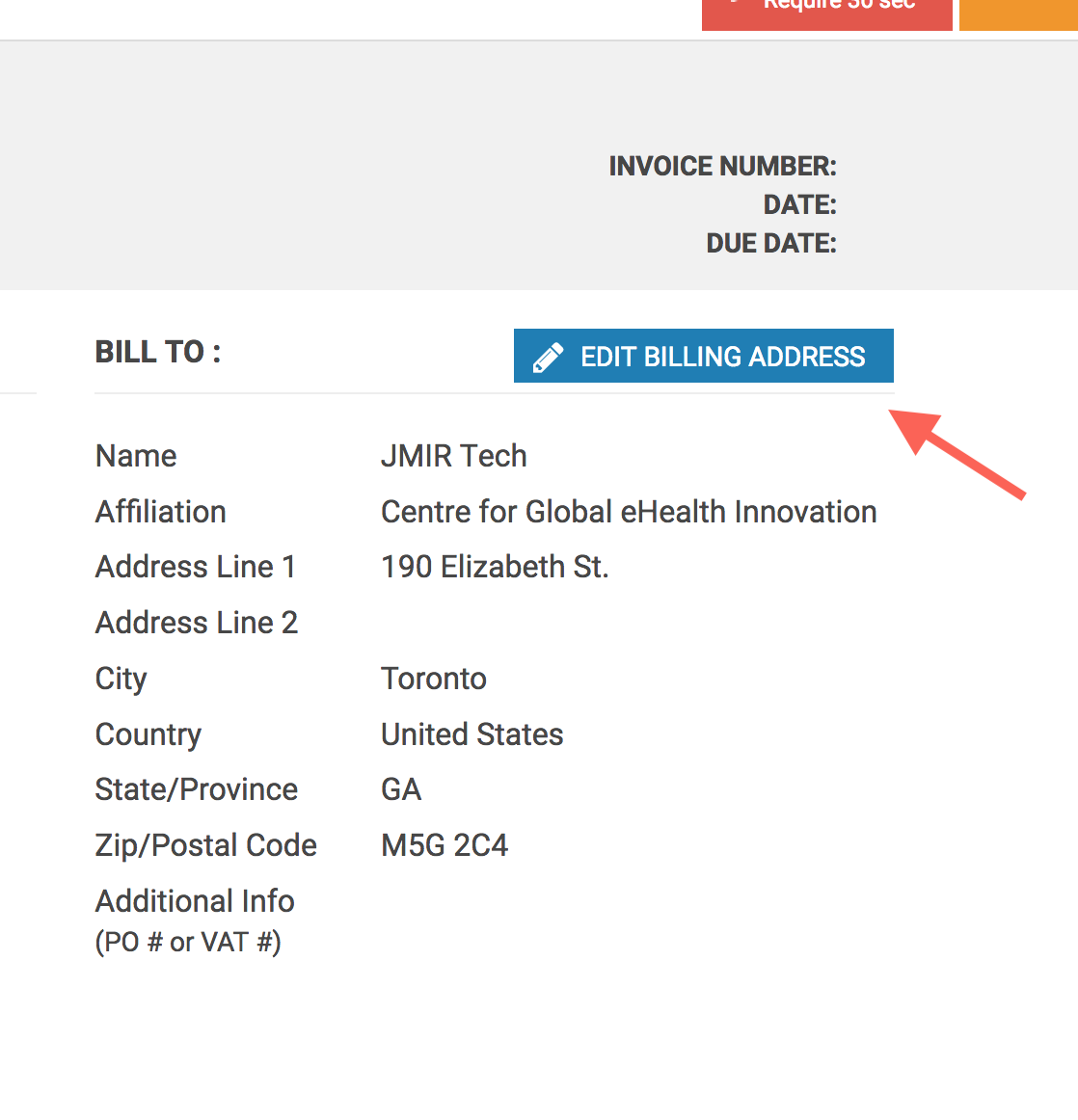 How Do I Change The Billing Address On My Invoice?